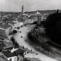 Viale Mazzoni, il Parco della Rimembranza e la Rocca Malatestiana, 1924 (BCM Fondo Dellamore, FDP 2829)