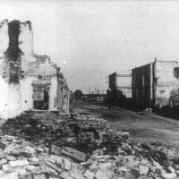 Porto Garibaldi. Via Provinciale bombardata. ASDS Ferrara