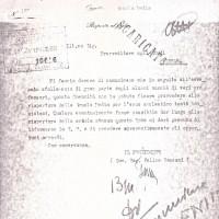 Documento della chiusura della scuola ebraica dopo la deportazione