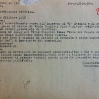 Ordinanza del comando militare germanico per la chiusura di via Mazzini e altre strade dopo i bombardamenti alleati, 28 aprile 1944