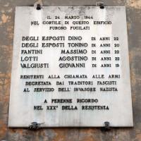 Lapide ricordo renitenti fucilati, via Ripa