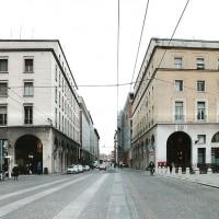 Via Mazzini oggi, dopo gli interventi urbanistici del dopoguerra