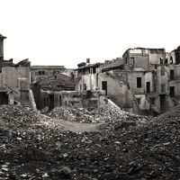Diverse zone di Via Lame colpite dai bombardamenti