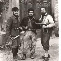 Partigiani della 1a Brigata Julia: Lodovico Stefanini (Carbonaro), Renzo Piscina (Aramis), Lino Perazzi (Lino).