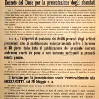 Manifesto fascista per la presentazione degli sbandati entro il 25 maggio 1944.