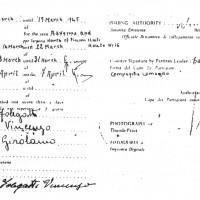 Lasciapassare alleato al partigiano Vincenzo Folegatti