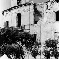 Cesena, l'Abbazia del Monte dopo i bombardamenti dell'ottobre del 1944 (BCM Fondo Bacchi, FBP 527)
