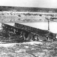 Una chiatta Bailey pronta per essere impiegata (1-2 aprile 1945)