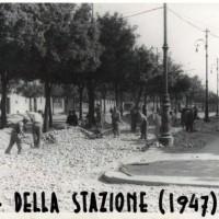 Lavori in Viale della Libertà, 1947