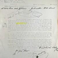 Documento Questura sui fatti del 26 luglio 1943