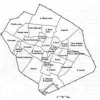 Mappa toponomastica di Forli, sec XVI (ASFo)