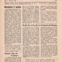 Il giornale clandestino della brigata protagonista della battaglia di Rovereto.