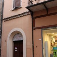 L' attuale ingresso del palazzo abitato dalla famiglia Mondolfo