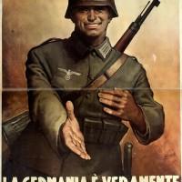 Manifesto di propaganda nazista.