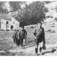 Partigiani in marcia.