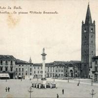 Piazza Saffi, prima della costruzione del Palazzo delle Poste e Uffici Statali