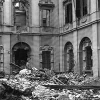 Macerie del Palazzo Ducale dopo i bombardamenti