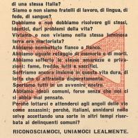 Nella prima fase dell'occupazione nazista i fascisti della Repubblica Sociale Italiana rivolgono appelli agli italiani affinché si ricompattino nella lotta contro gli Alleati. I loro sforzi propagandistici non ottengono, tuttavia, un seguito di massa.