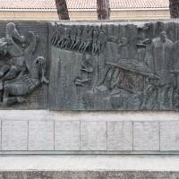 Il grande monumento della Resistenza ad Alfonsine.
