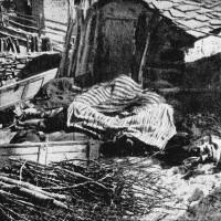Aia di Cervarolo dopo la strage.