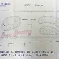 Planimetria del terzo rifugio, 1943 (AS-FC Fo, C.P.P.A.A. Comitato Provinciale di Protezione Antiaerea, busta n. 28)