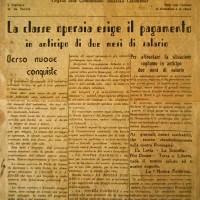 Stampa clandestina. La nostra fabbrica, giugno 1944