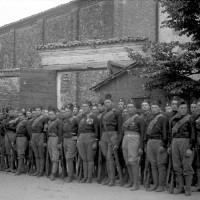 81a Legione Alberico da Barbiano nel cortile della caserma S. Vitale. 1923
