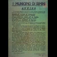 Manifesto che annuncia la morte dei tre partigiani, 16 agosto 1944