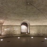 Cripta della chiesa di Santa Cristina, dopo il restauro del 2010 (foto dell'autore)