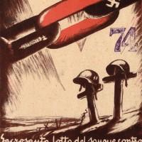 La propaganda della Repubblica Sociale Italiana recupera l'avversione alle democrazie occidentali contrapponendo alla loro ricchezza l'esaltazione della razza.