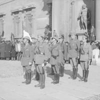 Giuramento degli allievi ufficiali della Rsi. La sfilata ha inizio dall'Accademia militare.