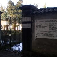 Cimitero ebraico di Parma, incisione su pietra in ricordo delle vittime della persecuzione nazifascista