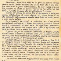 """Lettera di una moglie ad un partigiano, pubblicata sul giornale dei GDD """"Rinascita della donna"""""""