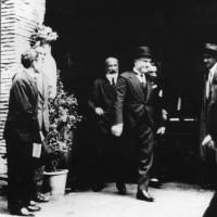Formiggini e Mussolini alla fiera del libro di Roma nel 1931.