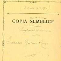 Saralvo Gustavo e Renzo, Scioglimento di comunione, 1931 (CCIAA)