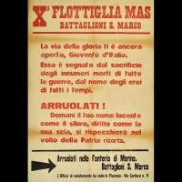"""Volantino per l'arruolamento nella """"X Mas"""" presso gli uffici di Piacenza"""
