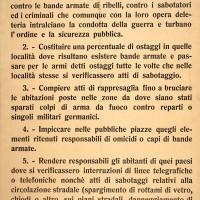L'ordine di inasprimento della repressione contro i partigiani emanato da Kesserling.