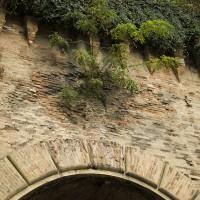 Segni dei proiettili sull'ingresso del foro della Diavolessa oggi (foto dell'autore)