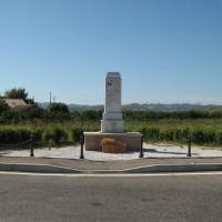 """Monumento ai """"CADUTI PER LA LIBERTA'"""" a Ruffio di Cesena, Rotonda Martiri Ponte di Ruffio (veduta generale)."""