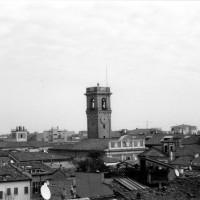 Torre civica del Palazzo del Ridotto, primi anni 2000 (O. AMADUCCI (a cura di), 1944-1945 Il passaggio del fronte a Cesena, Il Ponte Vecchio, Cesena, 2007, p. 107)