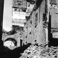 Rovine dell'Archivio di Stato bombardato il 13 maggio 1944