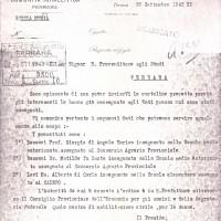 Documento originale,  comunicato di Precetto Prof. Bassani
