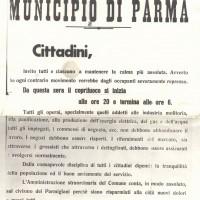 Disposizioni del Commissario prefettizio per la città occupata, 9 settembre 1943