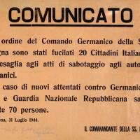 Il comunicato tedesco sulla strage di Piazza Grande.