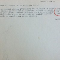 Disposizione del Comando militare germanico di Parma alla segreteria comunale per l'uso dei locali nelle Scuole Pietro Giordani