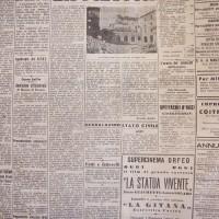 """Articolo della """"Gazzetta di Parma"""" sul bombardamento del 13 maggio 1944 in Pilotta"""