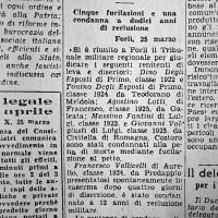 1944 ritaglio articolo condanna renitenti leva