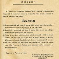 Il Comitato di liberazione nazionale condanna a morte i fascisti responsabili di torture e violenze.