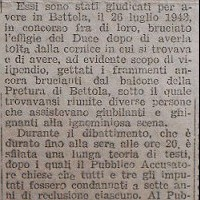 Trafiletto su La Scure che  annuncia la condanna a cinque anni inflitta dal Tribunale speciale a Francesco Daveri (5 marzo 1944)
