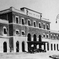 Esterno della stazione di Piacenza ristrutturata nel 1937